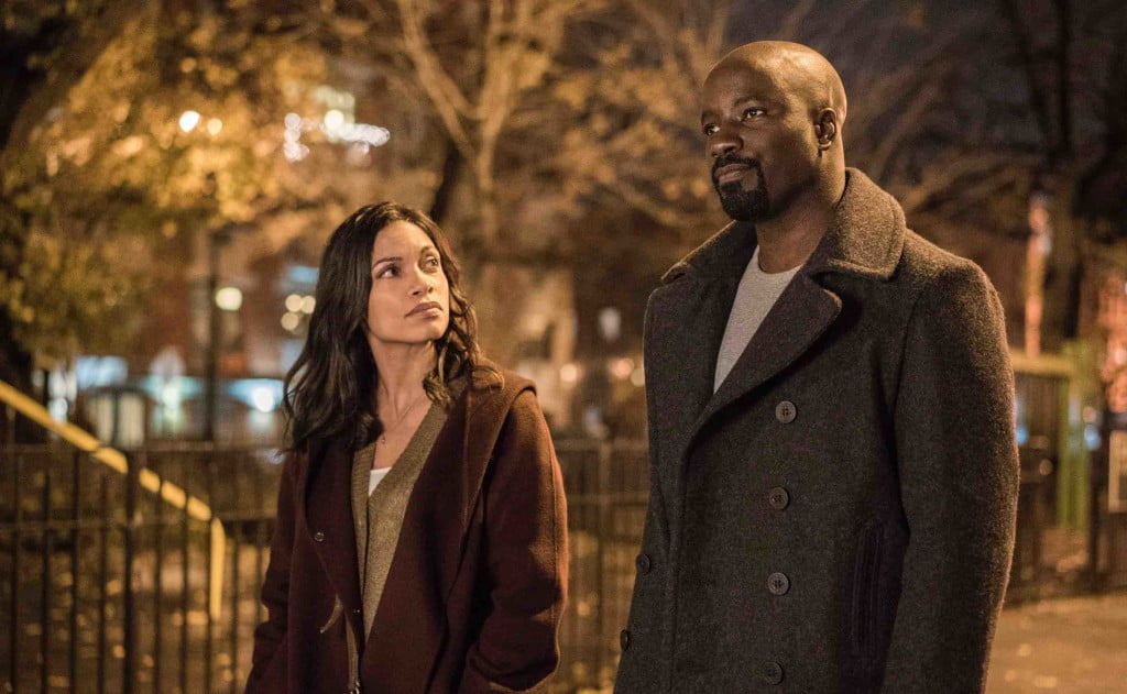 Rosario Dawson and Mike Colter