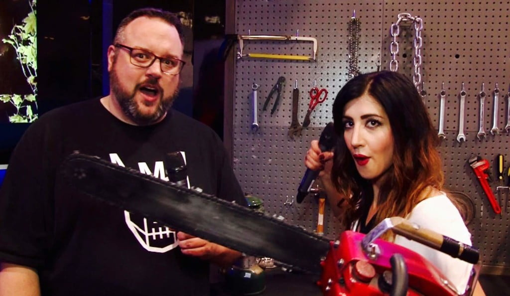 Mr. Green gets himself a bodyguard - Dana DeLorenzo of Ash vs. Evil Dead.